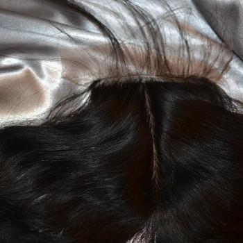 eurasian curly hair lace closure closeup